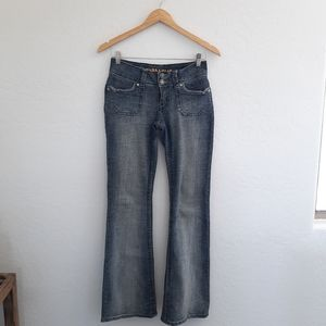 HYDRAULIC Blue Whiskered Bootcut Denim Jeans 5/6
